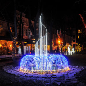 LED фонтан сияющее украшение двора